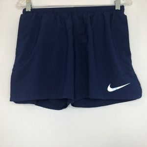 Nike Running Dri-Fit Blue Mesh Shorts Women's Med